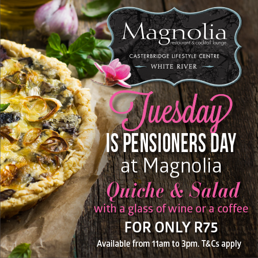 Pensioners Day at Magnolia Restaurant & Cocktail Lounge @ Magnolia Restaurant & Cocktail Lounge  | White River | Mpumalanga | South Africa