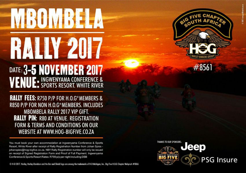 Mombela Ralley @ Ingwenyama Conference and Sport Resort @  Ingwenyama Conference and Sport Resort  | White River | South Africa