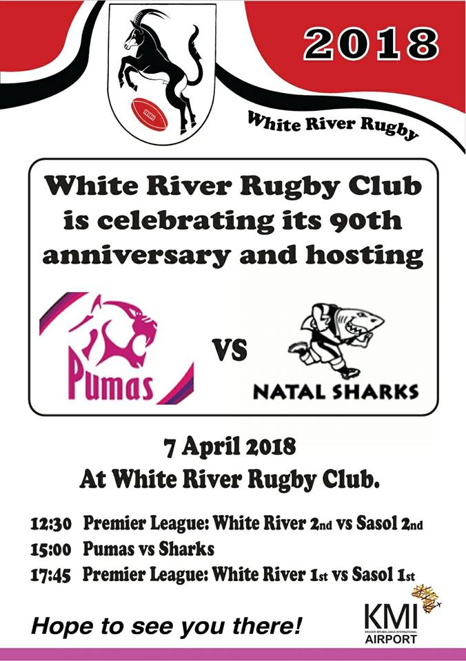 Sharks vs Pumas Live at White River Rugby Club @ White River Rugby Club