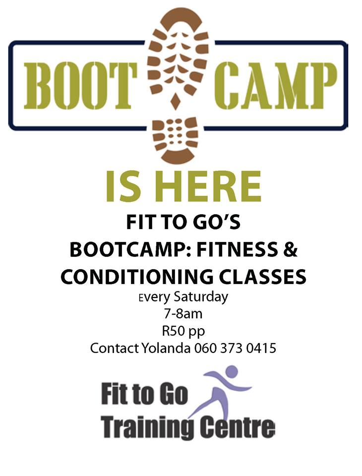 Fit to Go Bootcamp at Fit to Go Training Centre @ Fit to Go Training Centre, Casterbridge